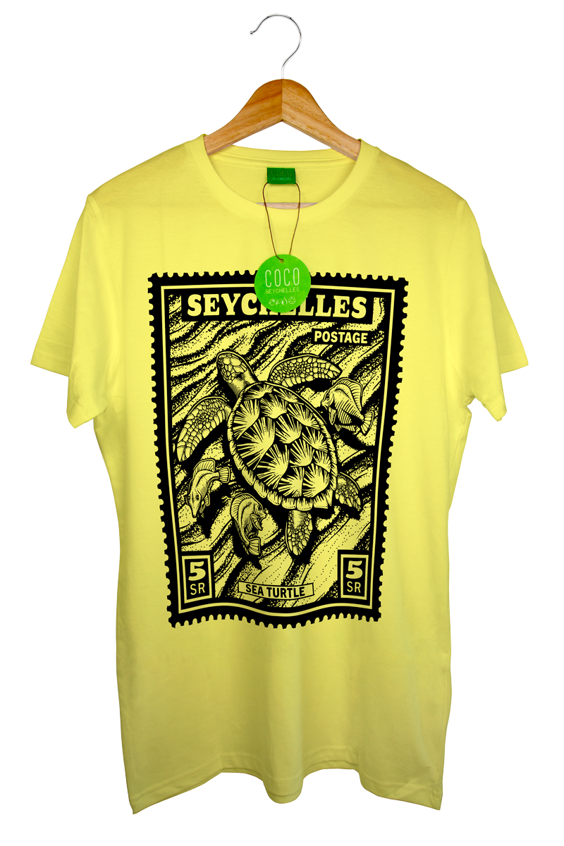 Sea turtle short sleeve organic t shirt coco seychelles for Turtle t shirts online